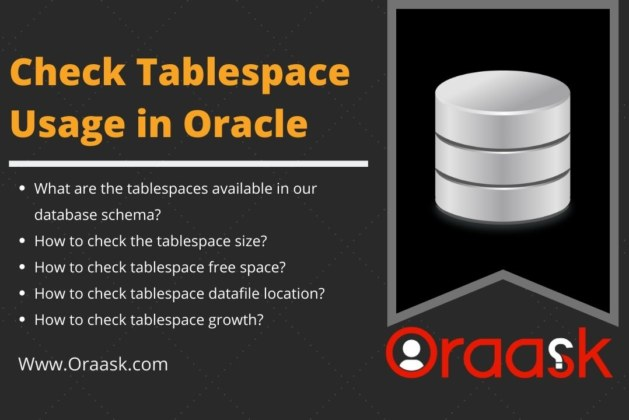 Check Tablespace Usage in Oracle